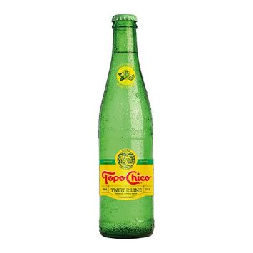 Topo Chico Mineral Water, Twist of Lime, 11.5oz Glass Bottle (Pack of 6, Total of 69 Oz)