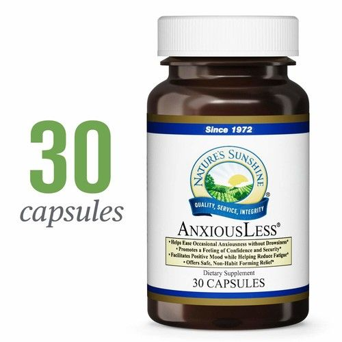 Nature's Sunshine AnxiousLess, 30 Capsules | Natural Stress Relief Supplement to Provide Occasional Anxiety Relief and Promote a Natural Calm