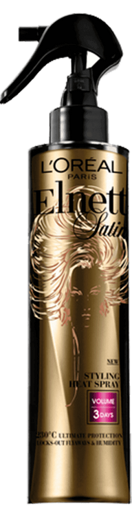 L'Oréal Paris  Elnett Satin Heat Protect Styling Spray - Volume