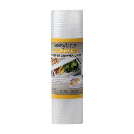 EasyLiner Brand Clear Classic 11 In. x 17 In. Shelf Liner, Clear (2 pk)