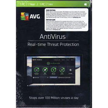 Avg Antivirus 2017 Oem Bilingual Pkc (1 Year)