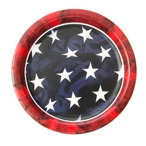 "Freedom Flag 7"" Plates"