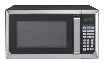 Hamilton Beach 0.9 cu. ft. Microwave Oven, Stainless Steel
