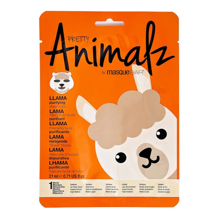 Masque Bar Basic Cleansing Pretty Animalz Llama Purifying Mask - 0.71 fl oz