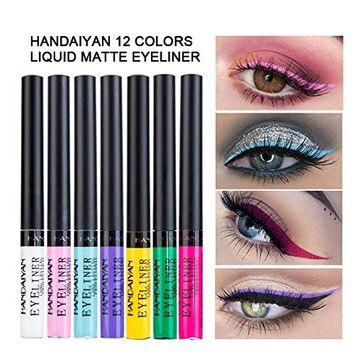 Coosa Matte Colorful Liquid Eyeliner 12Colors Long Lasting Waterproof Eyeliner Professional Bright-colored Eyeliner Pen Set - 12 PCS