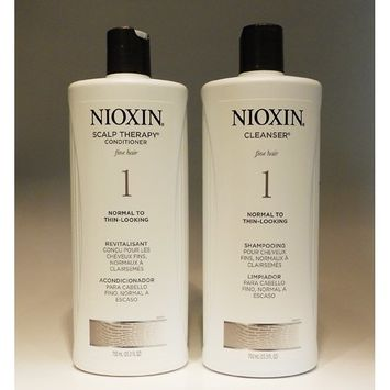 Nioxin System 1- Cleanser & Scalp Therapy Liter Duo Set