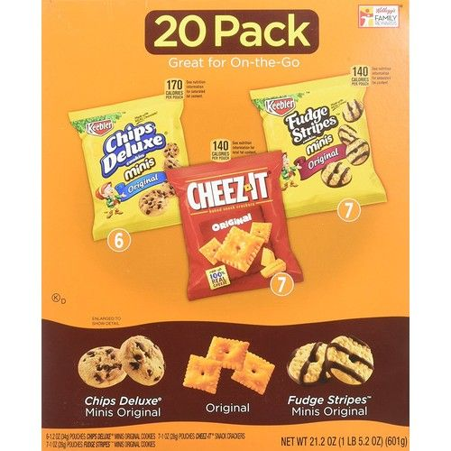 Keebler Cookies and Cheez-It Crackers Snack Packs Variety Pack, 20 Count (Packaging May Vary) (4)