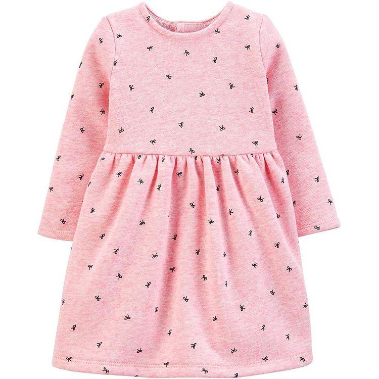 Carter's Baby Girls Bow-Print Fleece Dress
