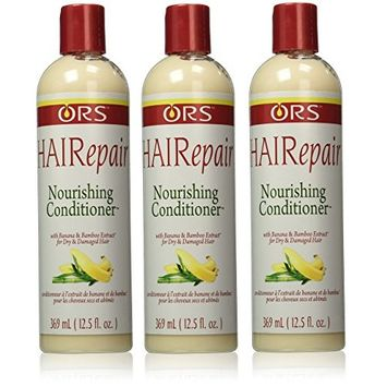 [VALUE PACK OF 3] ORS HAIR REPAIR FOR DAMAGED HAIR NOURISHING CONDITIONER 12.5OZ : Beauty