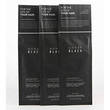 Monat Black Shampoo + Conditioner - 3 [10 mL] Sample Packs