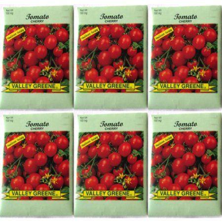 Valley Greene (6 Pack) 150 mg/Package of Cherry Tomatoes Heirloom Variety Seeds