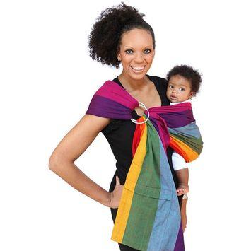 Maya Wrap Lightly Padded Ring Sling Baby Carrier - Dorothy - Medium [Medium]