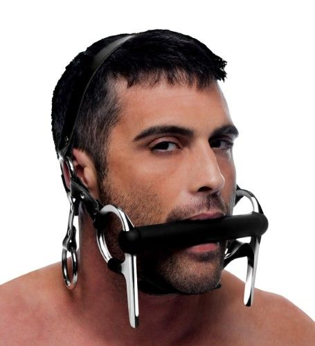Strict Steed Silicone Bit and Bridle Head Harness