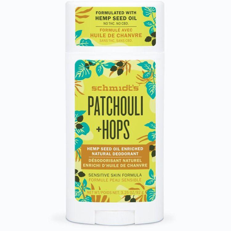 Schmidt's Patchouli + Hops Hemp Seed Oil Enriched Deodorant Stick