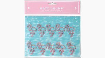Matt Crump Cambridge Pink Flamingo Paper Clips
