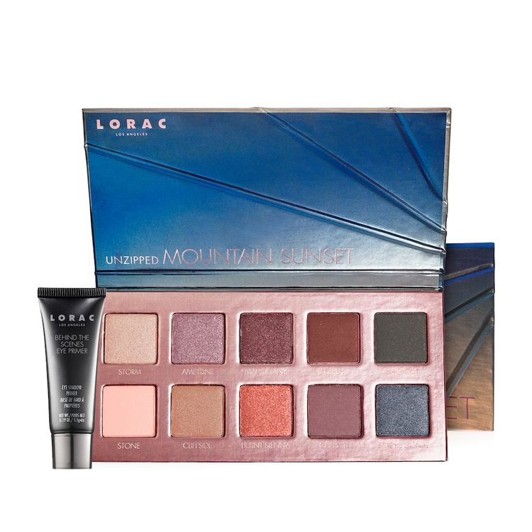 LORAC Unzipped Mountain Sunset Eyeshadow Palette With Mini Eye Primer, Multicolor