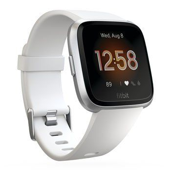 Fitbit Versa Lite Fitness Activity Tracker, White, Touchscreen, Water Resistant, Wireless Sync, - Special Offer