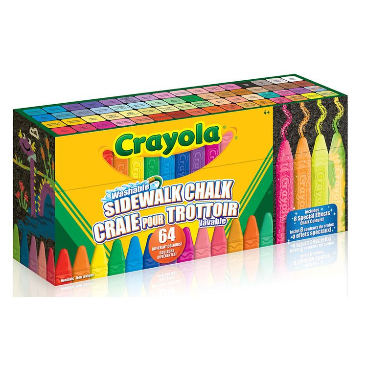 Crayola - 64ct Ultimate Chalk Collection