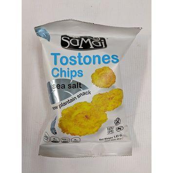 Samai Tostones Chips Sea Salt Flavor 1.41 oz [24-count case]