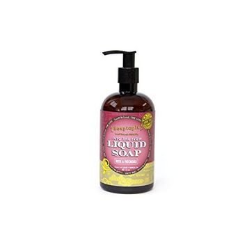 (Soaptopia) - Luxury Foaming Liquid Soap Made with Organic, All Natural Ingredients for Face, Body, and Hands - Scented with Rose Geranium & Patchouli to Soothe & Deep Clean - Suds & Roses (12 oz): Beauty