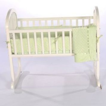 Babykidsbargains Heavenly Soft Cradle Bedding, Green, 18