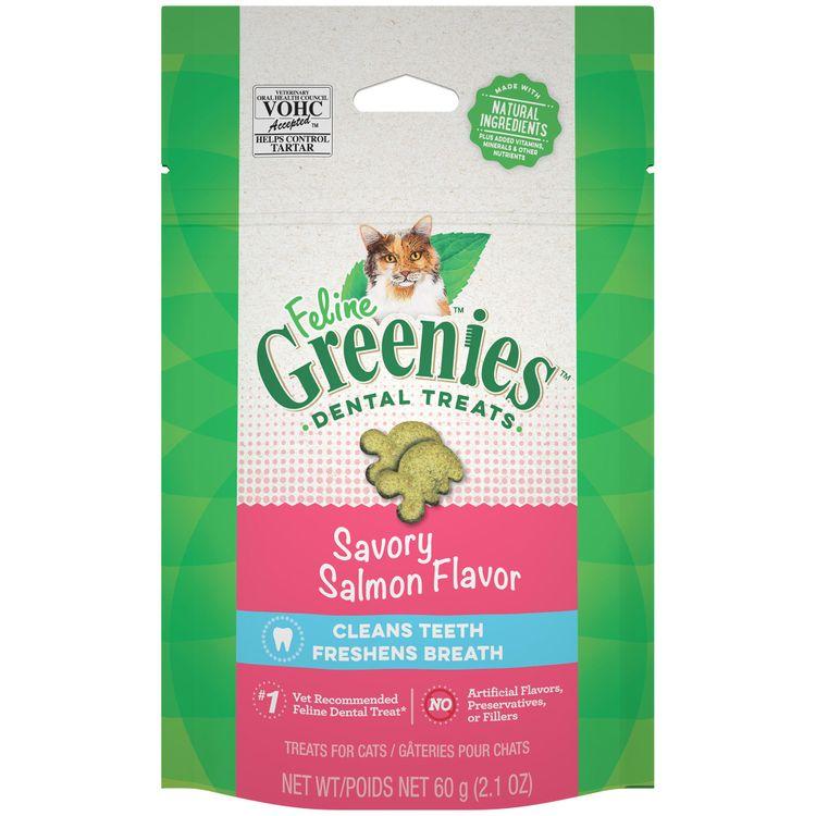 Greenies Savory Salmon Flavor Dental Cat Treats - 2.1oz