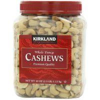 Kirkland Signature GWJVEl Cashews, 40 Ounce (2 Pack)