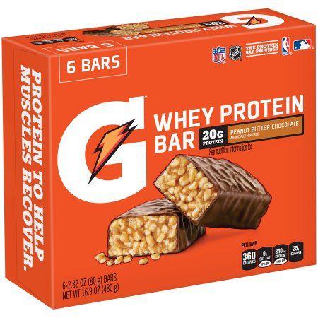 Gatorade Co. Gatorade ® Peanut Butter Chocolate Whey Protein Bars 6-2.82 oz. Wrappers