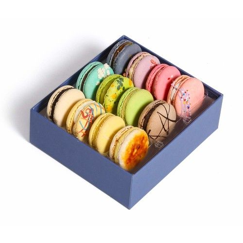 French Macaroons Premium Cookies Chocolate Gift Box Basket Snacks Food Care Package for College Students Holiday Christmas Assortments Thank You Condolences Get Well Men Women Prime 12 [Classic Flavor]