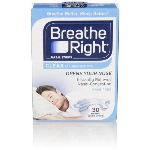 Breathe Right Nasal Strips, Small/Medium, Clear, 30 Each