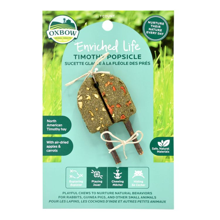 Oxbow Enriched Life Timothy Popsicle for Rabbit, 0.06 lbs.