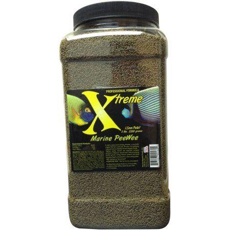Xtreme Aquatic Foods Marine PeeWee Krill/Shrimp/Herring/Squid/Octopus Marine Proteins, Slow-Sinking 1.5mm Pellets, 80 oz