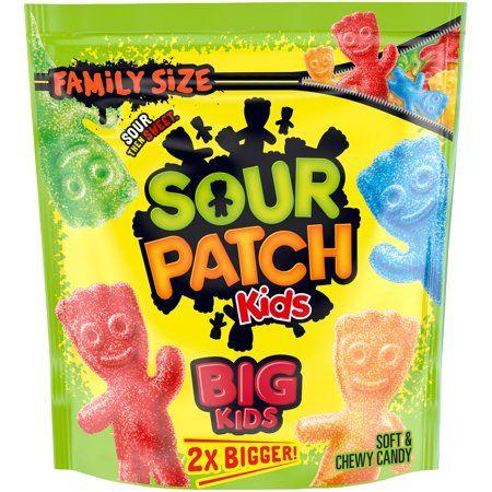Big Sour Patch Kids Candy, Original Flavor, 1 Family Size Bag (1.7 lb)