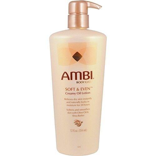 AMBI SKINCARE SOFT & EVEN CREAMY OIL LOTION 12oz MOISTURE IN 24 HRS
