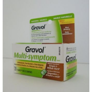 'GRAVOL (20 tablets) MULTI-SYMPTOM Antinauseant for NAUSEA, PAIN RELIEF, FEVER & MOTION SICKNESS: Health & Personal Care