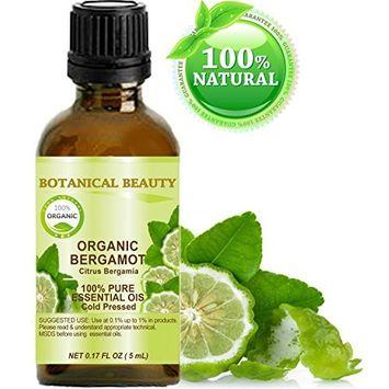 ORGANIC BERGAMOT ESSENTIAL OIL Italian. 100% Pure Therapeutic Grade, Premium Quality, Undiluted. 0.17 Fl.oz.- 5 ml.