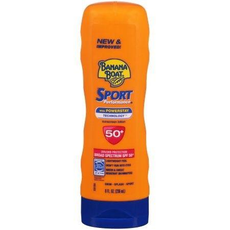 Banana Boat Sport Performance Sunscreen Lotion, SPF 50+ 8.0 fl oz(pack of 6)