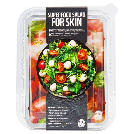 Superfood Salad Facial Sheet Mask For Skin - Tomato by Farm Skin for Unisex - 7 x 0.84 oz Mask