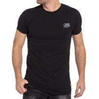 Tee-shirt homme noir brodé