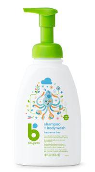 Babyganics Baby Shampoo + Body Wash, Fragrance Free - 16 fl oz Pump Bottle
