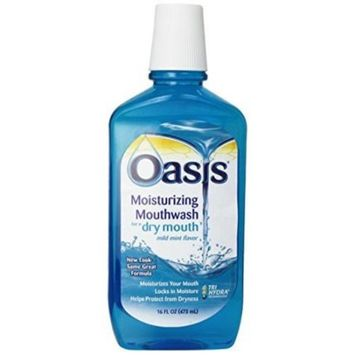 Oasis Moisturizing Mouthwash for Dry Mouth, Mild Mint - 16 oz