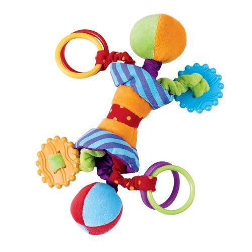 Manhattan Toy Ziggles Rattle and Teether Developmental Toy