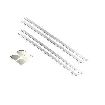 MirrEdge 48 in. x 48 in. x 2 in. Acrylic Mirror Installation Kit (4 Strips and 4 Corner Plates)