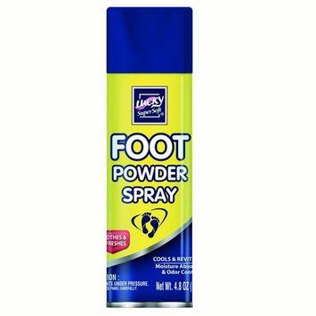 Lucky Super Soft Foot Care Powder Spray, 4.8 Oz