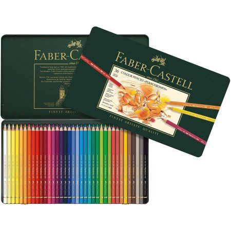 Faber-castel Polychromos Colored Pencil Set In Metal Tin 36pc