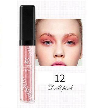 Liquid Glitter Eye Shadow,SMYTShop Long-lasting Makeup Liquid Smoky Eyeshadow Shimmer Cosmetic (Diamond pink)