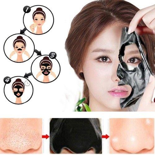 Face Apeel Facial Masks, Blackhead Remover Facial Cures Black Peel Off Mask Deep Cleansing Pore Acne Peel Tear Type Mask Blackhead Killer Mud Mask (60g) + 1PC Nose Mask + 1PC Acne Needle