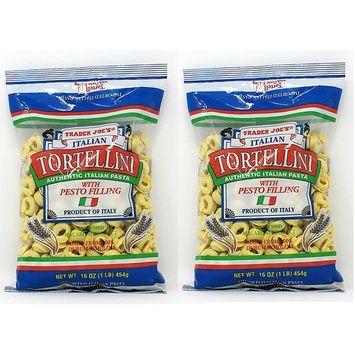 Trader Joe's Italian Tortellini with Pesto Filling NET WT. 16 OZ (1LB) 454g - 2-PACK