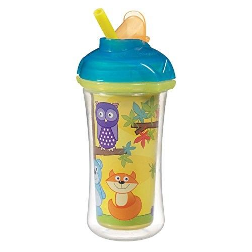 Munchkin Click Lock Insulated Straw Cup, 9 Ounce - Space