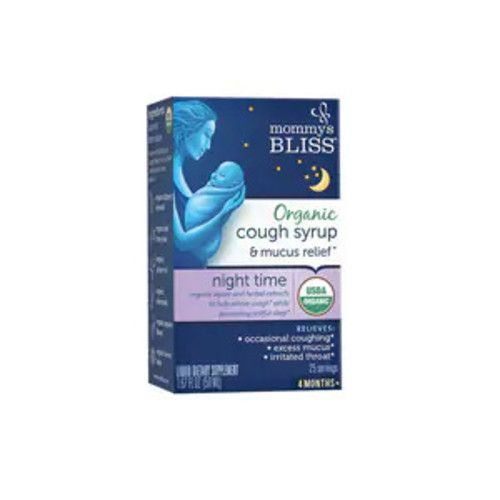 Mommy's Bliss Organic Cough Syrup & Mucus Relief Night, 1.67 OZ